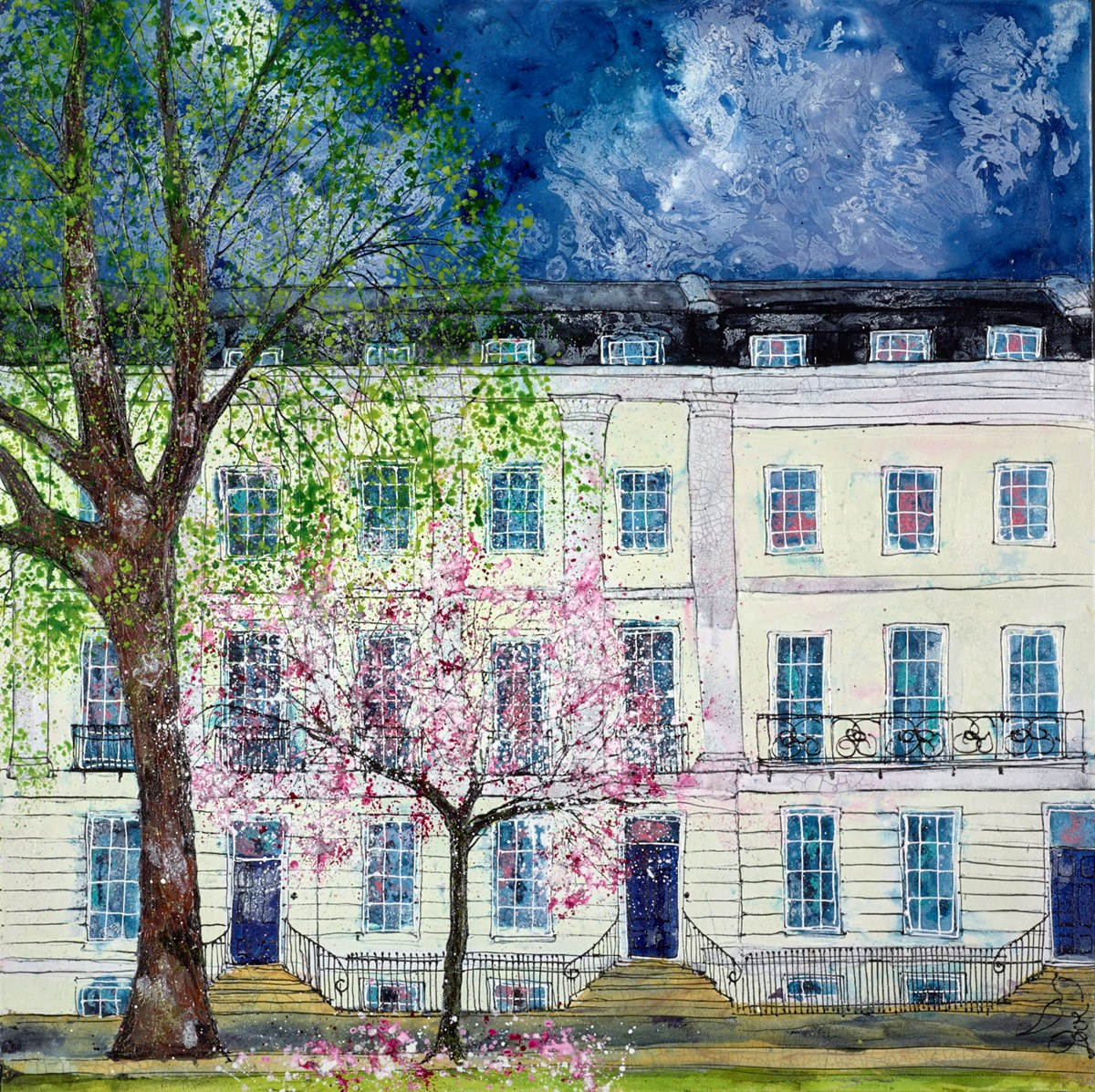 Regency Blossom by katharine dove -  sized 32x32 inches. Available from Whitewall Galleries